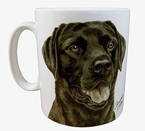 Waggy Dogz NOIR LABRADOR CHIEN CHIOT Fabriqué au Royaume-Uni Cadeau Présent qualité Chine Tasse mug théière