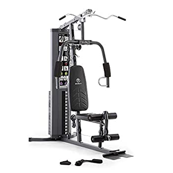Marcy 150lb Stack Home Gym with Pulley Arm and Leg Developer Multifunctional Workout Station for Weightlifting and Bodybuilding – 300 lbs Capacity MWM-4965