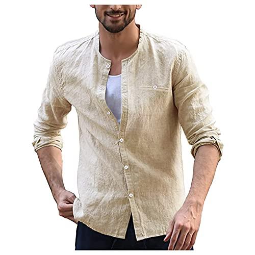 EVAEVA Polo Hombre de Manga Larga Golf Polo Shirt de Color Liso Slim Fit Camiseta con Botones Casual Moda Camisa T-Shirt Oficina Camiseta para Hombres Diario Correr Tops para Primavera Verano y Otoño