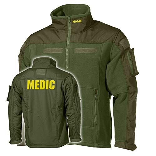 Copytec Combat Fleecejacke Medic Ambulance Sanitäter Notarzt Doktor Feldarzt #33461, Größe:L, Farbe:Oliv