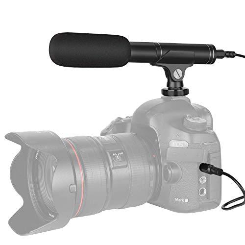 Koolehaoda videocamera, microfoon, condensatormicrofoon en omnidirectioneel voor Canon Nikon Sony Panasonic DSLR-camera