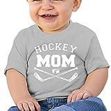Camiseta de manga corta para niños con diseño de hockey, gris, 18M