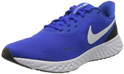 Nike Revolution 5, Zapatillas de Atletismo para Hombre, Multicolor (Racer Blue/White/Black 401), 42 EU