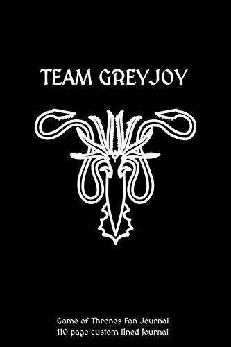 Team Greyjoy Game of Thrones Journal: 110 custom lined journal