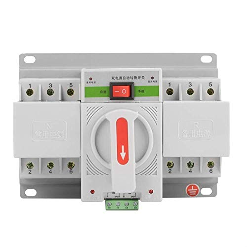 ZUQIEE Dual Netzschalter Circuit Breaker, 1pc 220V 63A 3P Mini Intelligent Dual Power Automatic Transfer Switch Circuit Breaker