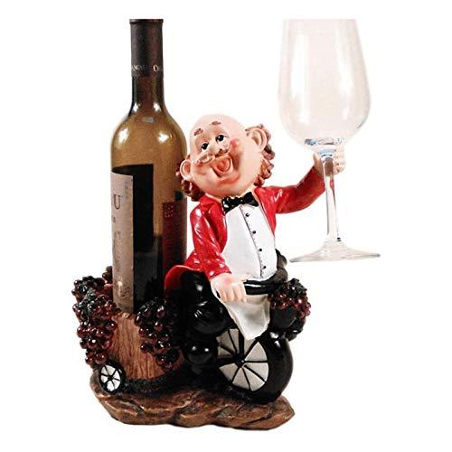Wine racks Estante para Vino, Apilable, de Mesa Botella de Vino Individual Artesanía de Resina Mostrador de Vino Estante de Exhibición de Vino para Decoraciones del Hogar Decoraciones Interiores