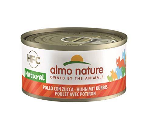 Almo Nature HFC Natural Katzenfutter nass -Huhn mit Kürbis 24er Pack (24 x 70g)