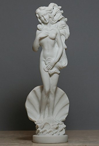 Alabaster-Statue, Geburt der Göttin, Aphrodite, Venus, nackt, weiblich, 20,3 cm