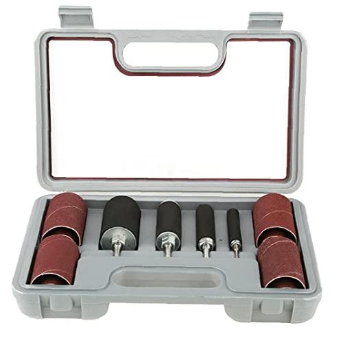 Sander tambor del cabezal de lijado de tambor auto-fijación giratorio Accesorios para herramientas de perforación para Consumibles Hardware Pulsar Afilado energía 20pcs