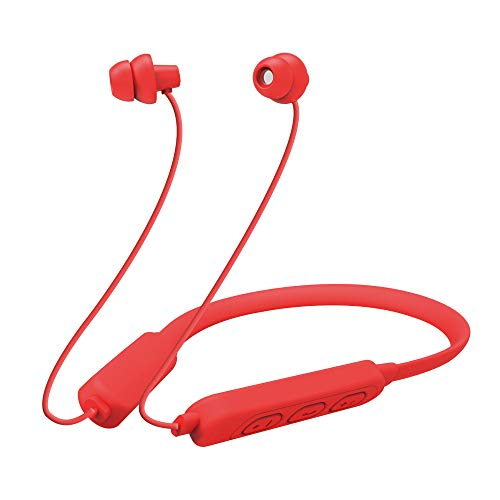 MAXROCK Bluetooth Sleeping Headphone,Noise Blocking Wireless Neckband Stereo Headset with Mic(30mins Quick Charge)-Red