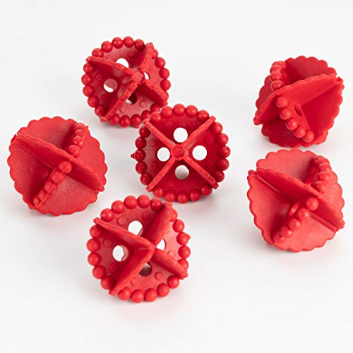 JD Brand Washing Machine Ball, Laundry Dryer Ball, Durable Cloth Cleaning Ball, (Red, 6 Pcs).