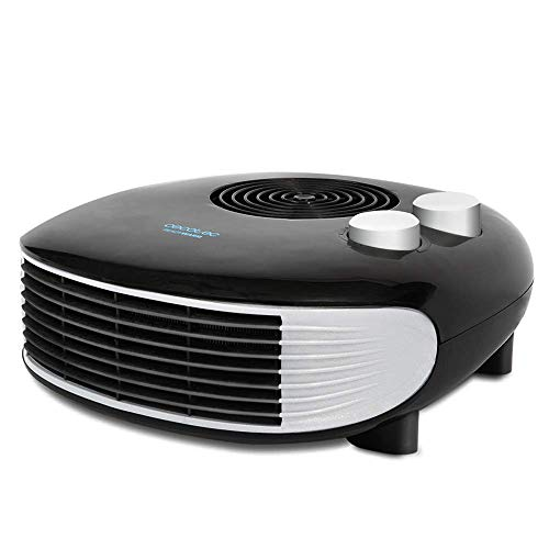 Cecotec Calefactor Eléctrico de Baño Bajo Consumo Ready Warm 9650 Force Horizon. Horizontal, 2000 W, Termostato Regulable, Protección sobrecalentamiento y antivuelco, Silencioso, 15m2