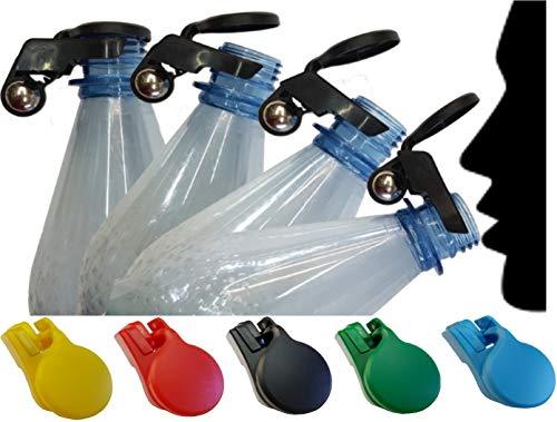 Sparset 5X Flaschenverschluss Wespenschutz für Kronkorken Schraubverschlüsse Abdeckung Glasflaschen PET Flaschen Bier Cola Wasser (5'er Set Bunt)