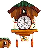 Orologio a cucù, Black Forest Cuckoo Orologio Plastica, Super Silent Cucciolo Pendoulum Orologio da parete per la casa soggiorno cucina decorazione della cucina