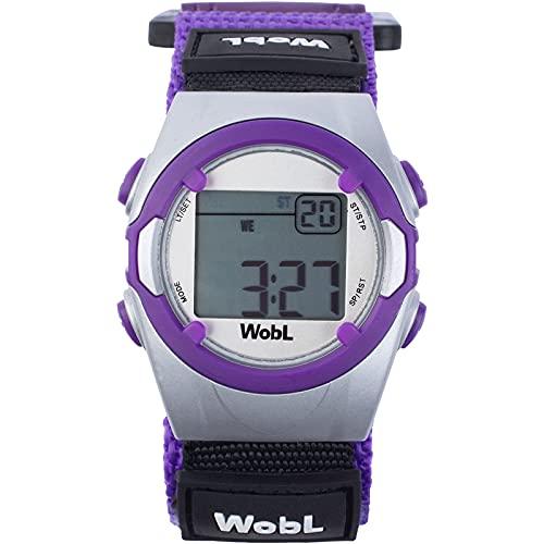 WobL Watch Morado - Reloj con 8 alarmas o vibraciones, recordatorio, para controlar el paso de ir al baño con WC