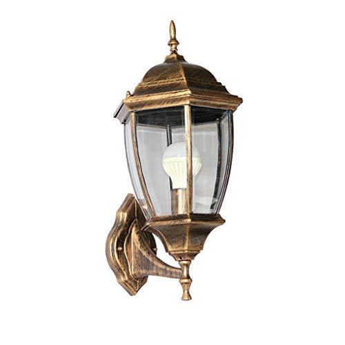TXTC Rustieke wandlamp, vergulde brons buitenwandlampen, lantaarn, hanglamp, retro industrie lantaarn, wandlamp, waterdichte boerderij lamp voor binnen porch achtertuin