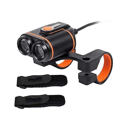 Fahrradlicht Fahrrad Scheinwerfer Fahrrad Frontlampe Dual Chips 400Lumens Ausgang Radfahren Beleuchtung BlackLampHeadOnly