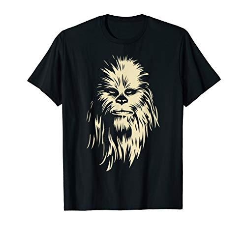Star Wars Chewbacca Face Shadow Graphic T-Shirt