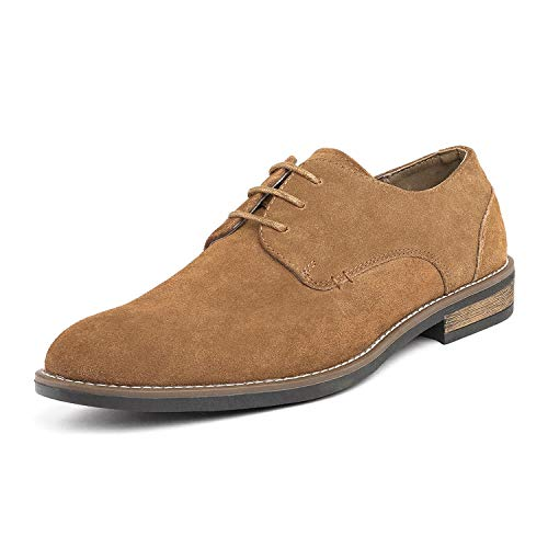 Bruno Marc Men's URBAN-08 Tan Suede Leather Lace Up Oxfords Shoes – 13 M US