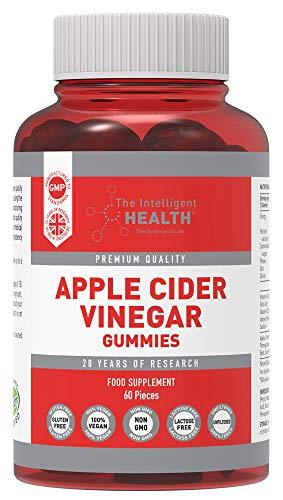 Apple Cider Vinegar Gummies 1000MG with The Mother, Premium Raw Unfiltered ACV, 60 Vegan, Non-GMO Vitamins, Gummy Alternative to Apple Cider Vinegar Capsules