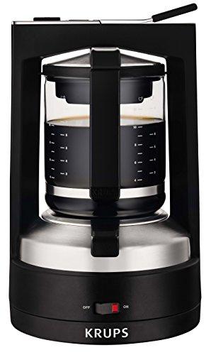 Krups KM468910 – Cafetera de goteo, 850 W, 1.25 L, acero inoxidable/vidrio,
