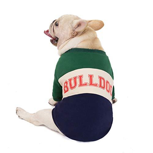 Yowablo Haustier-Kleidung Herbst und Winter Cotton-Padded Clothes Dog Patchwork (XL,3- Grün)