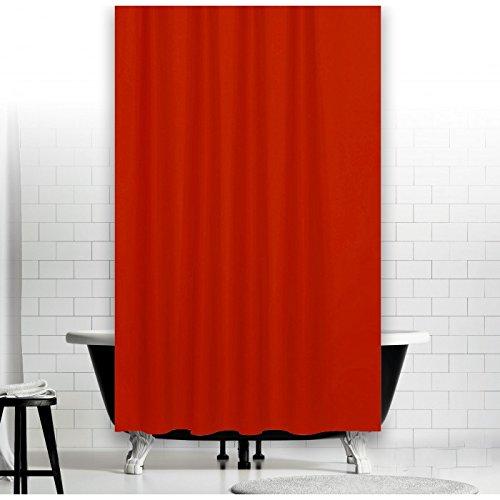 TEXTIL DUSCHVORHANG UNI ROT 120x200 cm INKL. QUALITÄTSRINGE 120 breit x 200 hoch! SHOWER CURTAIN RED!