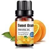 Aceites Esenciales de Aromaterapia - Natural 100% de Aceite Esencial Natural Conjunto de Difusores y Humidificadores con Caja de Regalo Exquisita (UVa Natural, 10 ML) (Naranja)