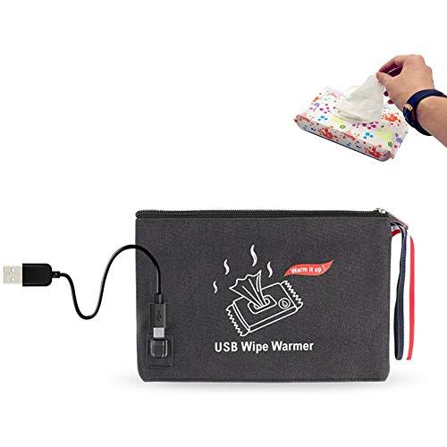 Babydoekjes babydoekjes warmer verwarming Feuchttüchter opbergtas USB Powered,Black
