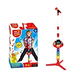 My Music World Microphone Karaoke for Kids - Adjustable Stand, Flashing Lights, Musical Effects & Tunes - Connects to Smartphone and MP3 Player to Sing-Along