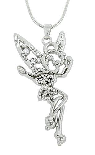 My Shape Collar con colgante de ángel de hadas de plata antigua para niñas y mujeres