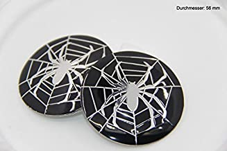 R304 Spider 4 Pieces Wheel Cap 3D Emblem Mobile Car Sticker Hub Cap Hubcaps 56 mm