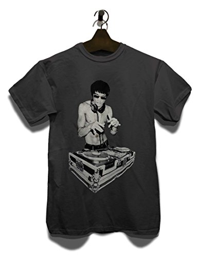 Bruce Lee DJ Avengers T-Shirt Dunkelgrau-Dark-Gray M