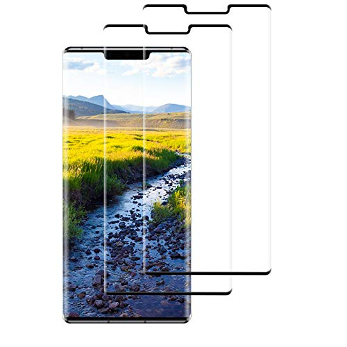 2 Piezas Protector Pantalla para Huawei Mate 30 Pro Cristal Templado, Dureza 9H Película Protectora de Vidrio Templado