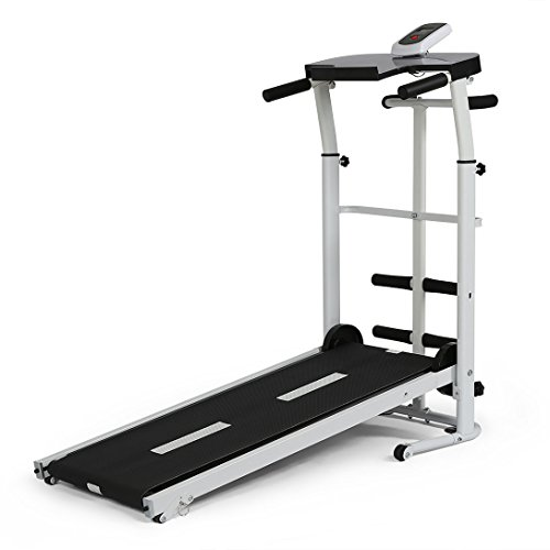 YP Folding Portable Multifunctional Manual Treadmill Fitness Walking Machine Cardio Exercise Home Gym Incline