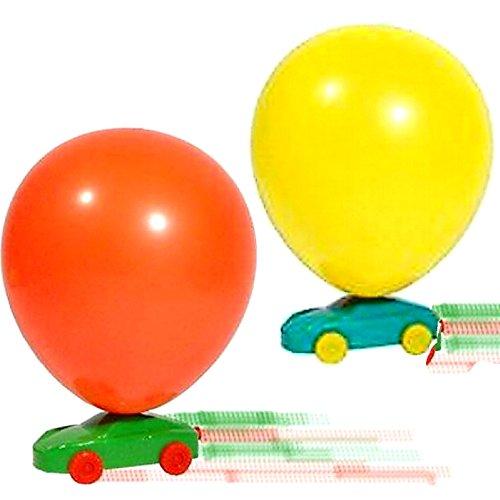 German Trendseller® - 3 x Ballon Flitzer l Auto Ballon Antrieb l Der Knaller bei jedem Kindergeburtstag ✔