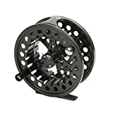 Croch Fly Fishing Reel with CNC-machined Aluminum Alloy Body 3/4 Gun Green