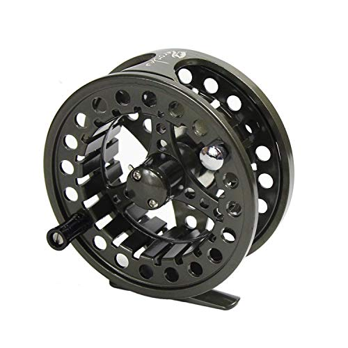 Croch Fly Fishing Reel with CNC-machined Aluminum Alloy Body 7/8 Gun Green