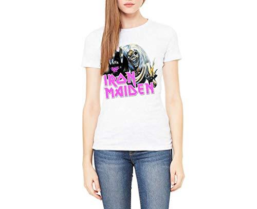 Camiseta Iron Maiden (Blanca, S)