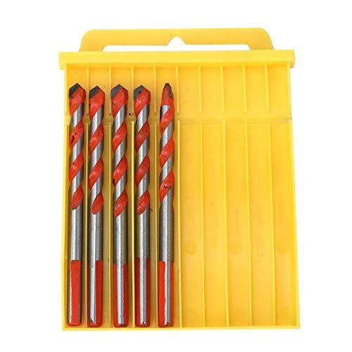 5 stuks 8 mm boorset, multifunctionele legeringskop, multifunctioneel handgereedschap voor houten wanden opening mesdiameter voor boormachine functionele duurzame anti-skidproof