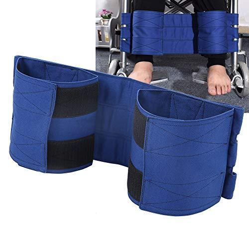 Beinstützgurt Rollstuhlauflage verstellbar Elastisch Baumwolle Beinstütze Verstellbar Rutschfest Sicherheitsgurt Universal (Blau)