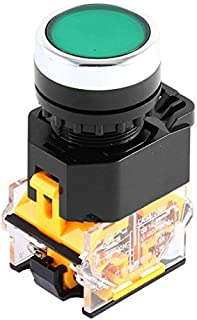 400 V 10 A panelmonterad NO+NC DPST momentär tryckknappsbrytare 22 mm