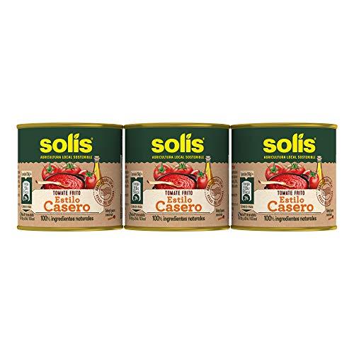 Solís Tomate Frito Estílo Casero - Paquete de 6 x 3 latas de 100 gr - Total: 1.8 kg