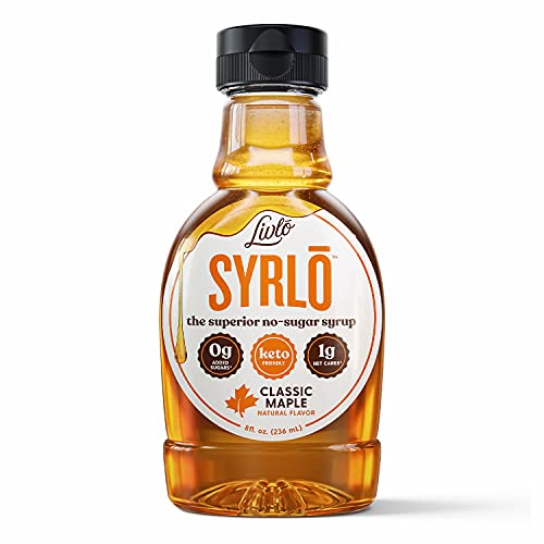 Livlo Sugar Free Keto Maple Syrup - Low Carb & Keto Friendly Pancake Syrup -1g Net Carbs & 10 Calories per Serving - Sugar Alcohol Free - 8oz