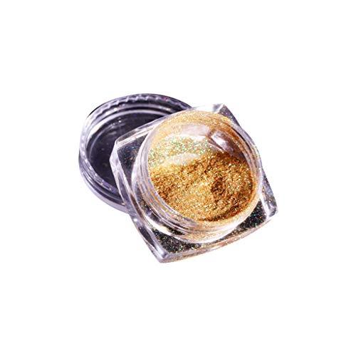 Nail Art Powder, Fulltime Mirror Holographic Laser Rainbow Pigment Manicure Glitter Dust (A)