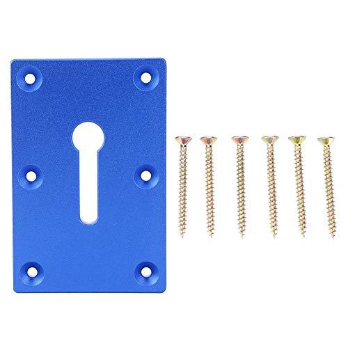 Montageplatte, Tischbefestigungszange für Holzbearbeitung Montageplattenbefestigungswerkzeug, Frästisch mit Aluminium-Einsatzplatte(Blau)