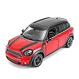 GEBAN Vehículo a Escala 1:24 para el Modelo de aleación Mini Countryman, Mecanismo de Enlace de Volante Deslizante, Modelo de colección de Frente, Regalos de cumpleaños para niños (Color : Red)