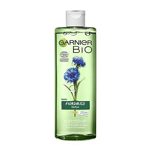 Garnier Bio Acqua Micellare al Fiordaliso Lenitivo, Formula Arricchita con Acqua d'Orzo Biologica e Glicerina Vegetale, 400 ml