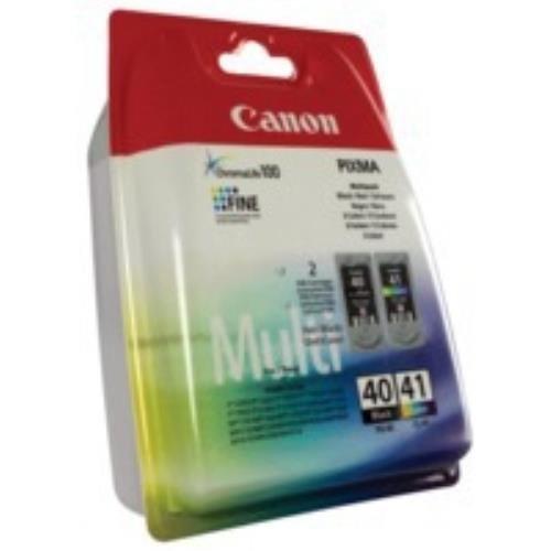 Canon 0615B036 (pg-40 cl 41) paquete de cabezal de impresión, 12 ML 16 ml +, juego de 2 unidades