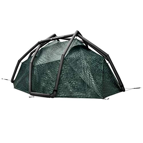 HEIMPLANET Original   Backdoor - 3 Season   4 Person Dome Tent   Inflatable Tent - Set Up in Seconds   Waterproof Outdoor Camping - 5000mm Water Column   Supports 1% for The Planet